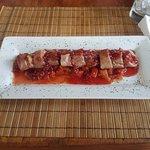 Medallones de cerdo en salsa de frambuesa