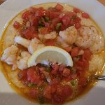Shrimp and cheese grits! Yum!