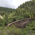 View of the trestle from Hwy 82