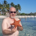 A Sea Star at the Sunset Beach