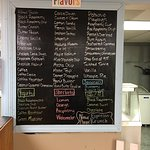 Great list of flavors, toppings together with great smiling service