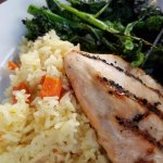 Simply Grilled Chicken with Rice & Broccoli Rabe