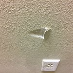 another hole in the wall in the stairwell