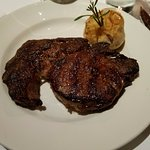 My 16oz ribeye. Tasty but I wanted more if you know what I mean. For the $$$ more meat please...