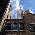 Room 1004's private roof deck is in the shadow of the Empire State Building!