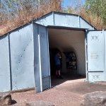 A bunker full of information and relics of the bombing of Darwin.