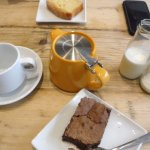 Both gluten free cake option (chocolate brownie and lemon drizzle) were delicious