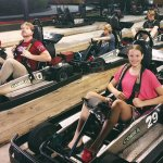 Part of Our Crew loading up on Go-Karts