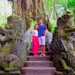 Mr Mehta and Mrs Monisha when exploring mongkey forerst