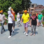Visiting Jallianwala Bagh with Gurinder Singh Johal
