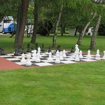 Life-sized chess set