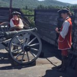 Great live demonstration of a cannon firing by two Fort Henry soldiers.