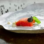 Citrus Cured Sea Trout & Exmoor Caviar