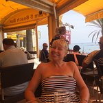 Lovely bar on the beach fantastic service lovely lady Kim from Cardiff served us, great food sal