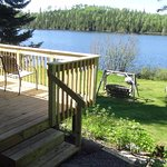 Deck on lakeside of Cabin 4.