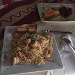 Shrimp Pasta & wings