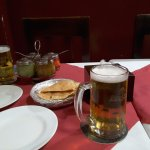 Papad and beer for starters. Waiting for the main event. Sauces are very nice
