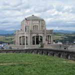 Vista House and parking and loop.