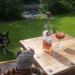 Wine & fetch by the river haha