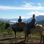 Horseback riding with hubby