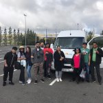 The gang in front of the IGT Bus