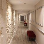 corridor d'accès aux chambres