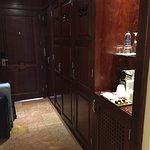 closet and bar area