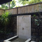 Traditional hut, open air bathroom