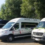 Three TasteFull Excursions vehicles at Monte Creek Ranch Winery in Kamloops
