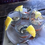 Oyster shooters (without vodka)