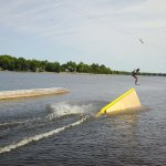Uprail feature at capital cable park