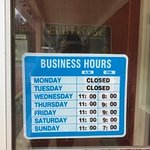 Business hours to not be disappointed