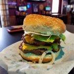 mega sized burger