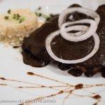 Emmoladas with mole poblano