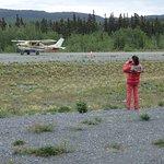 Avioneta llegando al punto de encuentro
