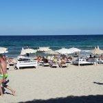 Plaża przy barze Chiringay