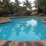 Lovely property with water park, not far away from city, but poorly maintained rooms, slippery &