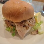 Grilled cod sandwich