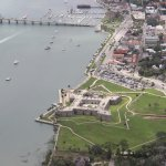Great view of downtown and Castillo de San Marcos