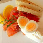 Scottish Salmon and Quail Eggs