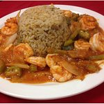 SHRIMP CREOLE WITH DIRTY RICE