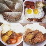 Turnover, Kilauea Loco, Beef Stew Plate Lunch, Korean Fried Chicken Plate Lunch