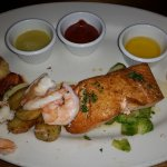 Seafood sampler platter.