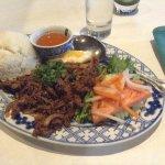 beef lemongrass dish