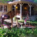 Front porch of the Shady Acre House