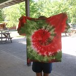 Fun Campground Activities like this one - homemade tie-dyed T-shirt