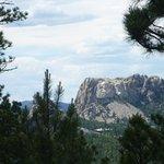 Looking at Mount Rushmore