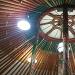 Detail of a yurt's ceiling