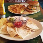Key West Quesadillas and Cheeseburger in Paradise