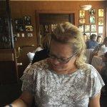 Looking at menu.